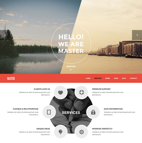 master-free-html5-template