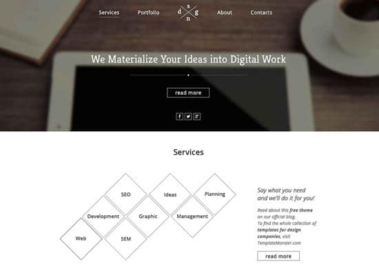 single-page-theme-free-website-template